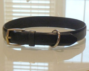 DIY dog collar, homemade dog collar, leather dog collar, DIY holiday dog gift