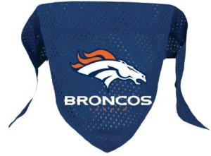 denver broncos dog bandana on Bark and Swagger