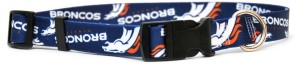 Denver Broncos dog collar on Bark and Swagger