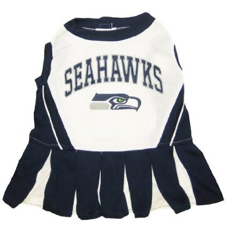 91f51f6a8 Seattle Seahawks dog cheerleader outfit on Bark and Swagger