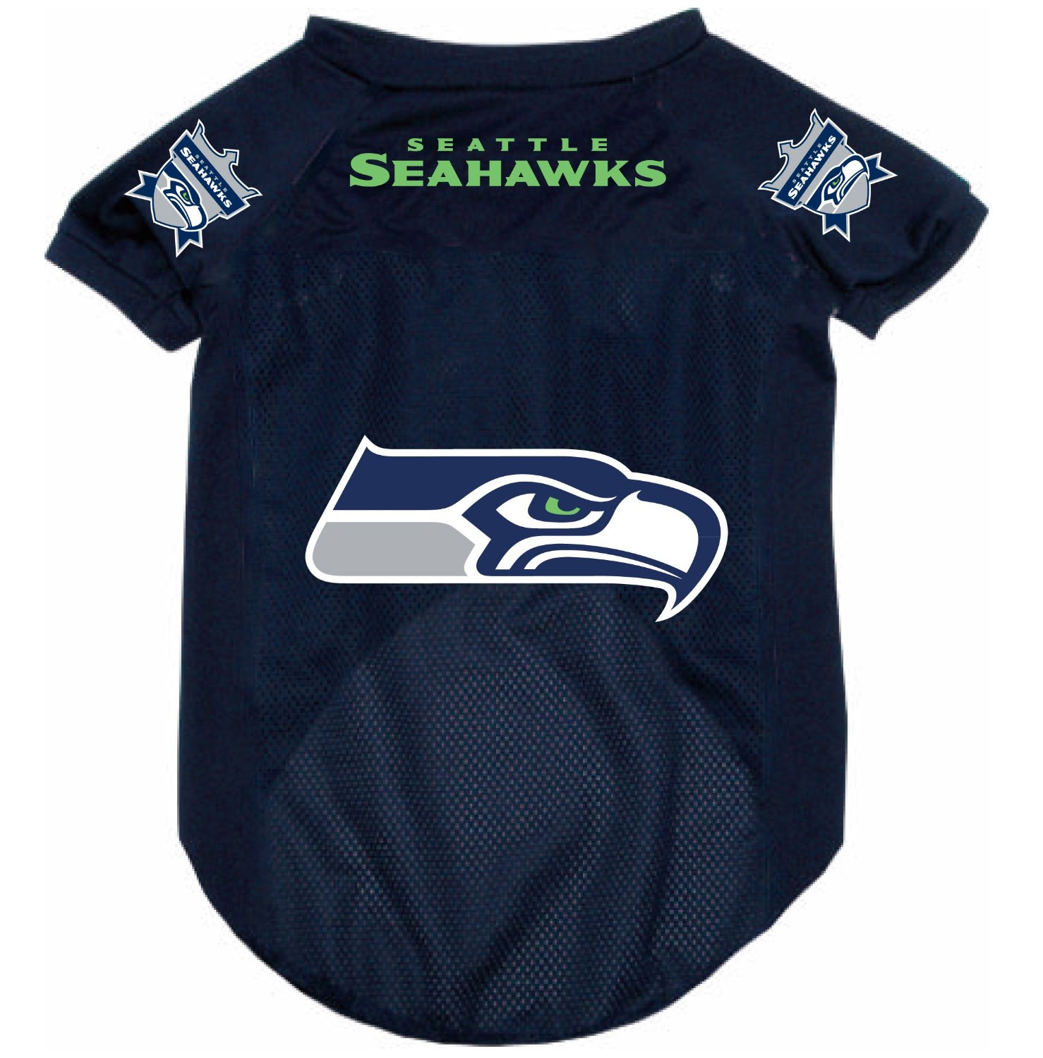 744f4394b Seattle Seahawks dog jersey on Bark and Swagger