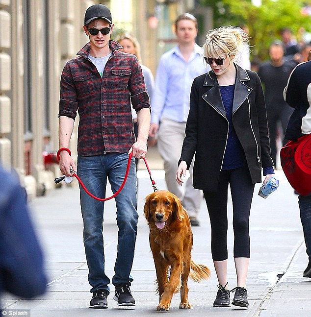 Superheroes For Dogs Andrew Garfield Emma Stone Their Adopted