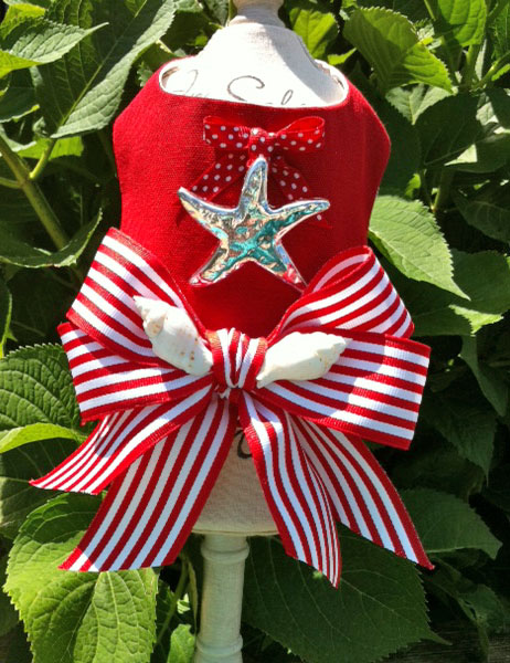 red silver starfish harness